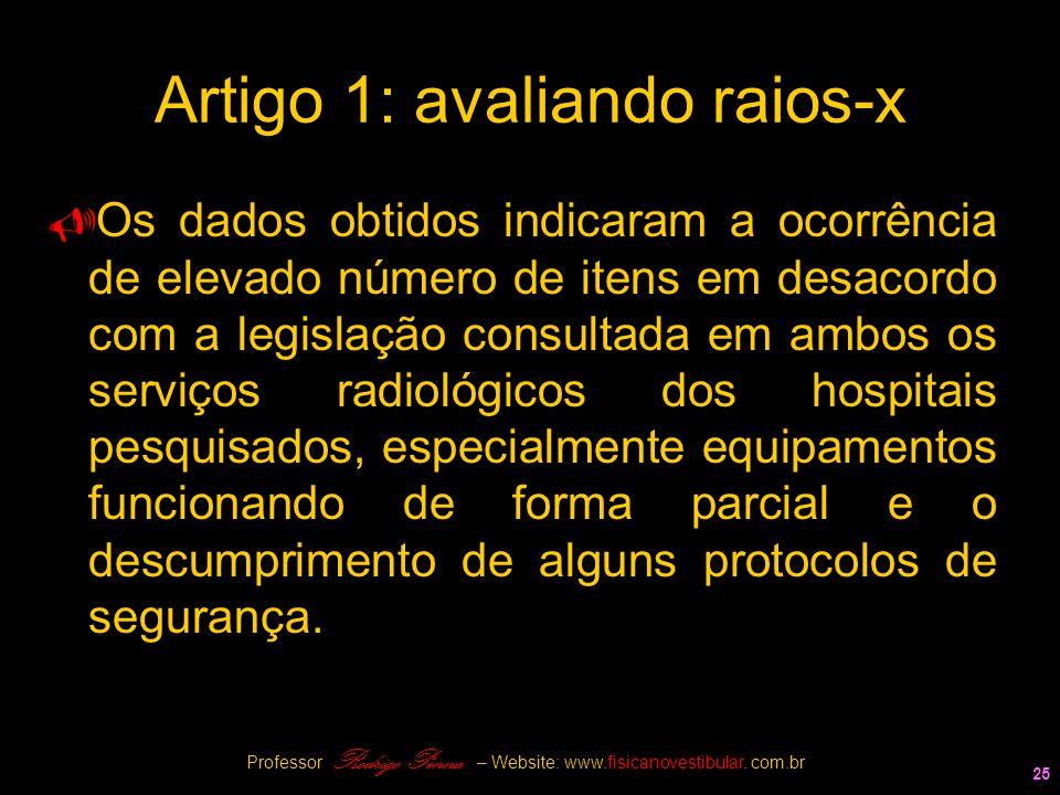 Artigo 1: avaliando raios-x