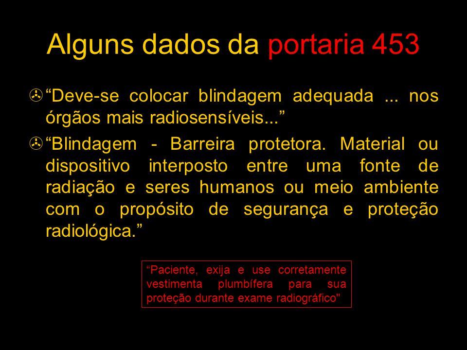 Alguns dados da portaria 453