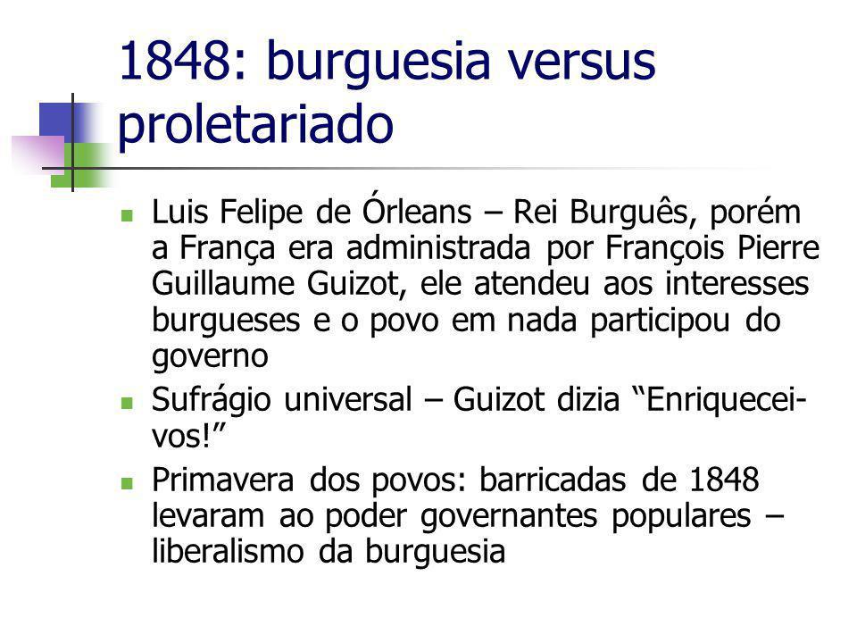 1848: burguesia versus proletariado