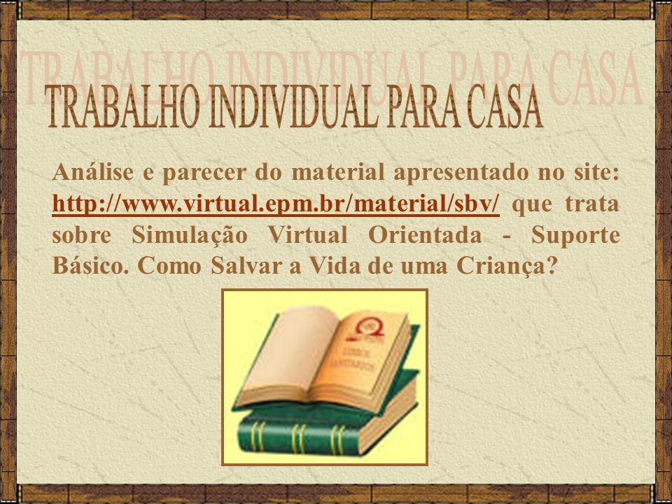 TRABALHO INDIVIDUAL PARA CASA