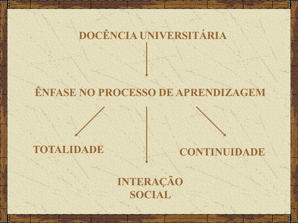 DOCÊNCIA UNIVERSITÁRIA ÊNFASE NO PROCESSO DE APRENDIZAGEM