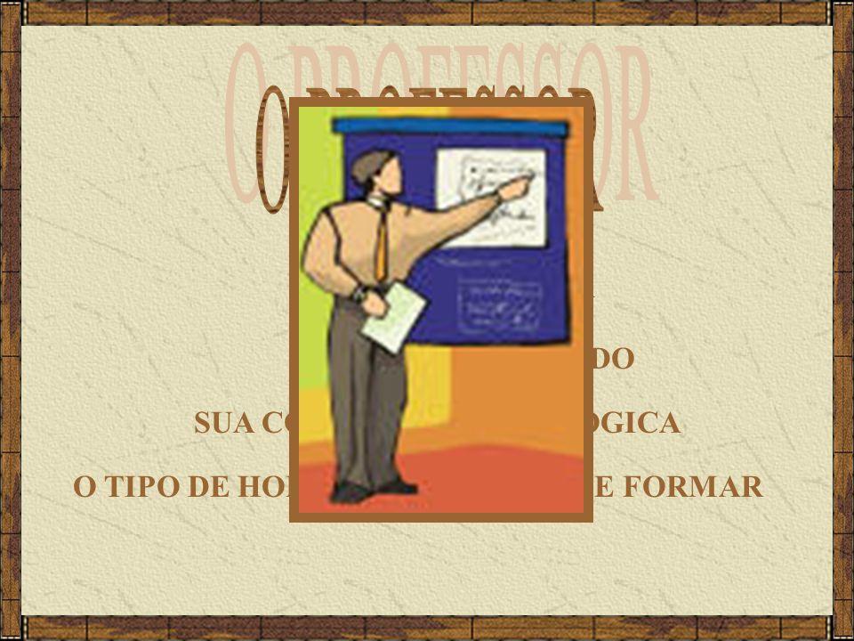 O PROFESSOR SUA CONSCIÊNCIA SUA VISÃO DE MUNDO