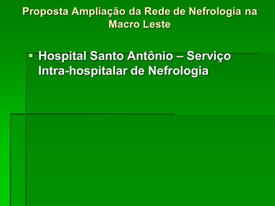 Proposta Ampliação da Rede de Nefrologia na Macro Leste