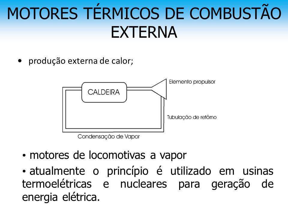 MOTORES TÉRMICOS DE COMBUSTÃO EXTERNA