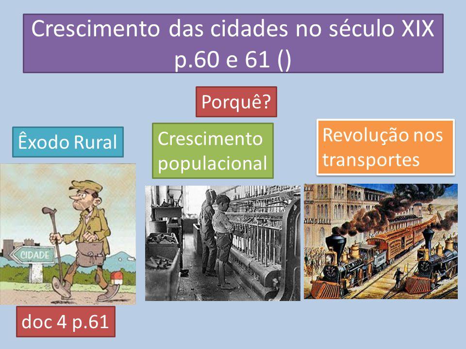 Crescimento das cidades no século XIX p.60 e 61 ()