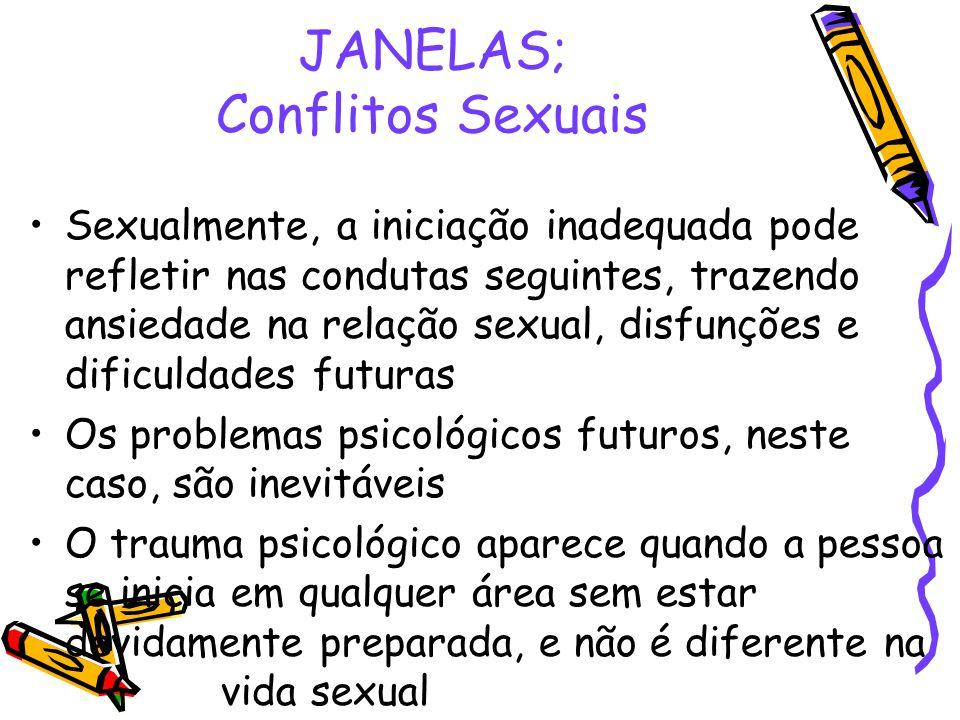 JANELAS; Conflitos Sexuais
