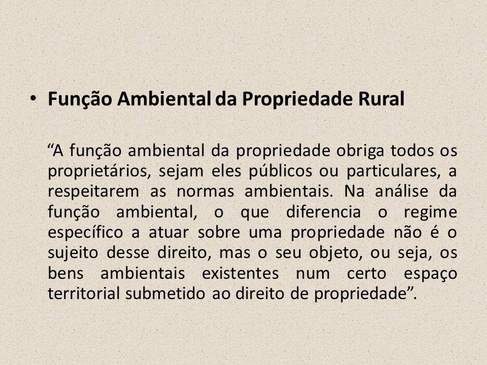 Função Ambiental da Propriedade Rural