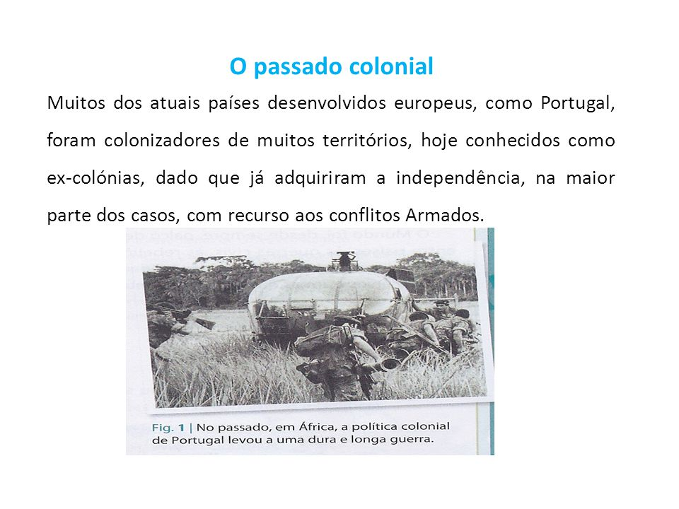 O passado colonial