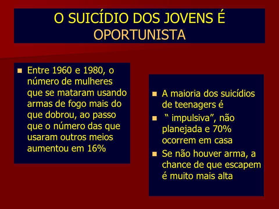 O SUICÍDIO DOS JOVENS É OPORTUNISTA