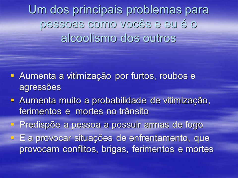 Um dos principais problemas para pessoas como vocês e eu é o alcoolismo dos outros