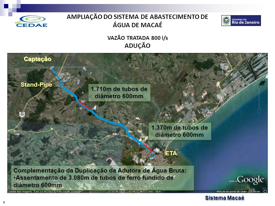 AMPLIAÇÃO DO SISTEMA DE ABASTECIMENTO DE ÁGUA DE MACAÉ TRATAMENTO