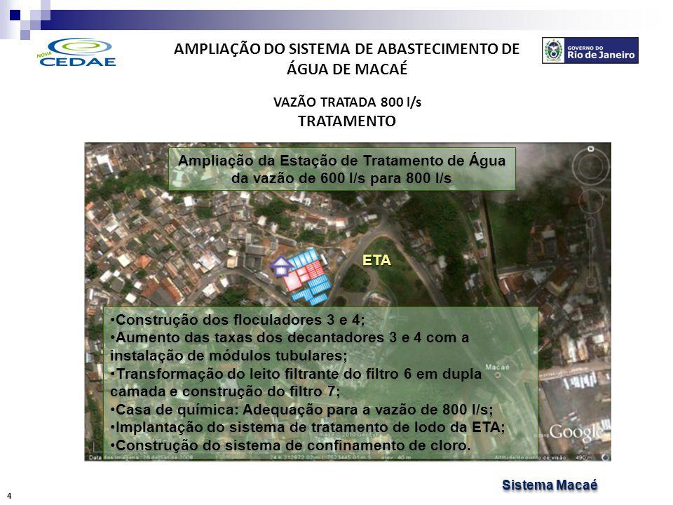 AMPLIAÇÃO DO SISTEMA DE ABASTECIMENTO DE ÁGUA DE MACAÉ RECALQUE