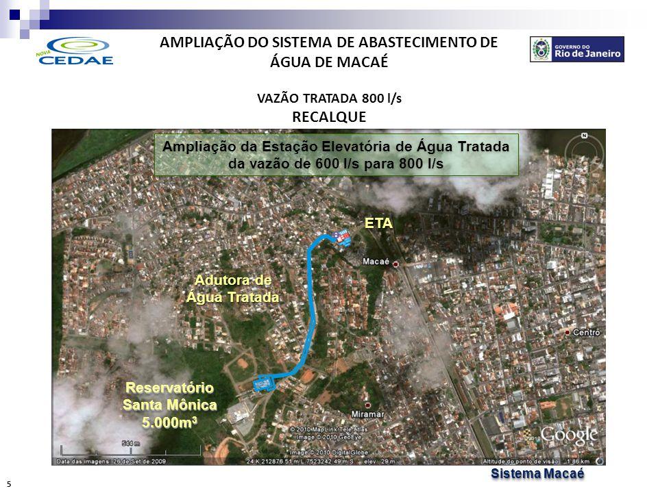 AMPLIAÇÃO DO SISTEMA DE ABASTECIMENTO DE ÁGUA DE MACAÉ RESERVAÇÃO