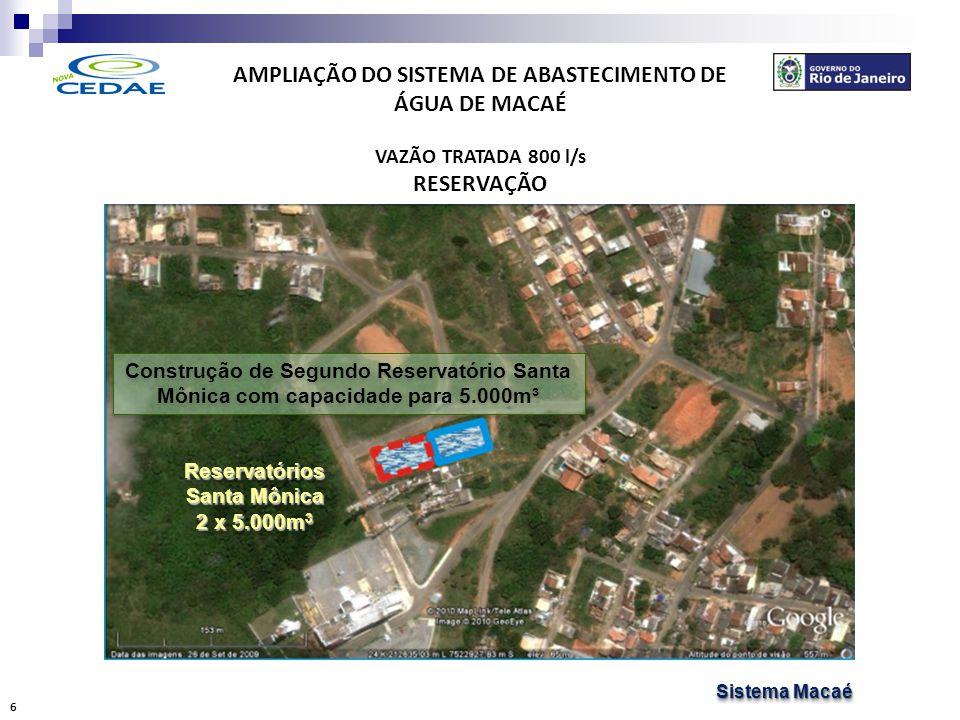 AMPLIAÇÃO DO SISTEMA DE ABASTECIMENTO DE ÁGUA DE MACAÉ DISTRIBUIÇÃO