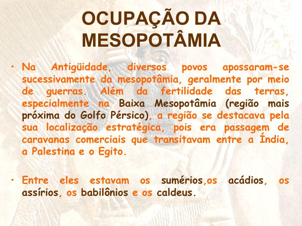 OCUPAÇÃO DA MESOPOTÂMIA