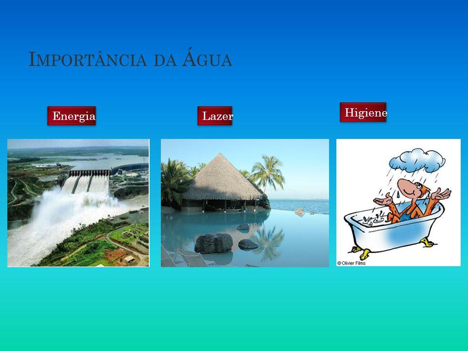 Importância da Água Higiene Energia Lazer
