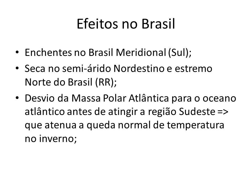 Efeitos no Brasil Enchentes no Brasil Meridional (Sul);
