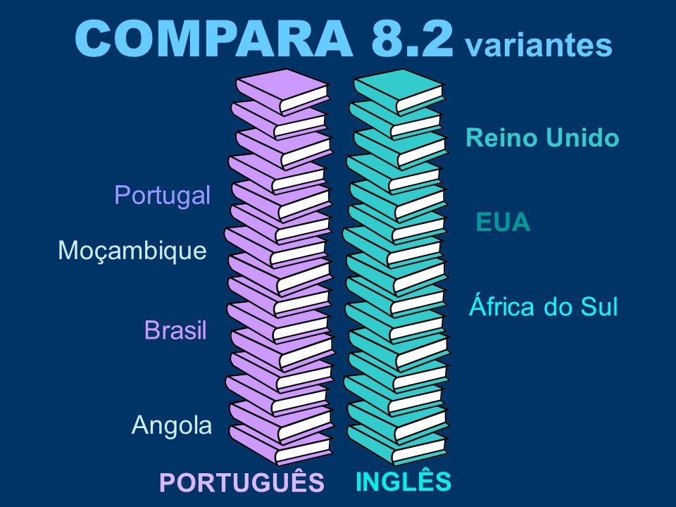 COMPARA 8.2 variantes Reino Unido Portugal EUA Moçambique