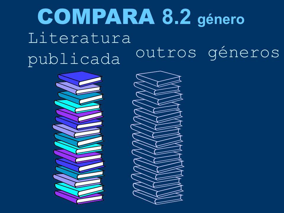 COMPARA 8.2 género Literatura publicada outros géneros