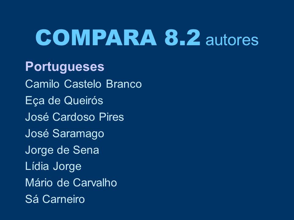 COMPARA 8.2 autores Portugueses Camilo Castelo Branco Eça de Queirós