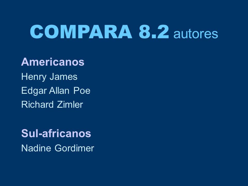 COMPARA 8.2 autores Americanos Sul-africanos Henry James