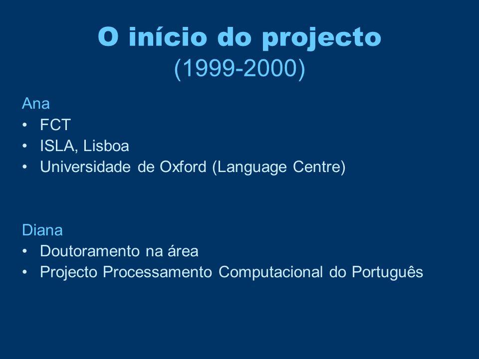 O início do projecto (1999-2000)