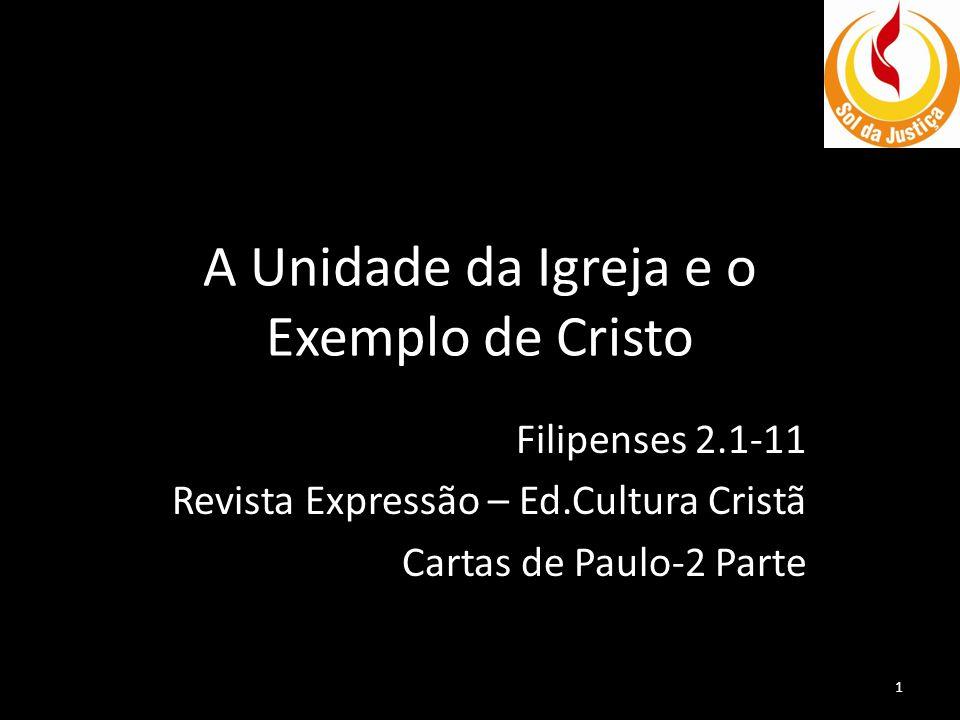 A Unidade da Igreja e o Exemplo de Cristo