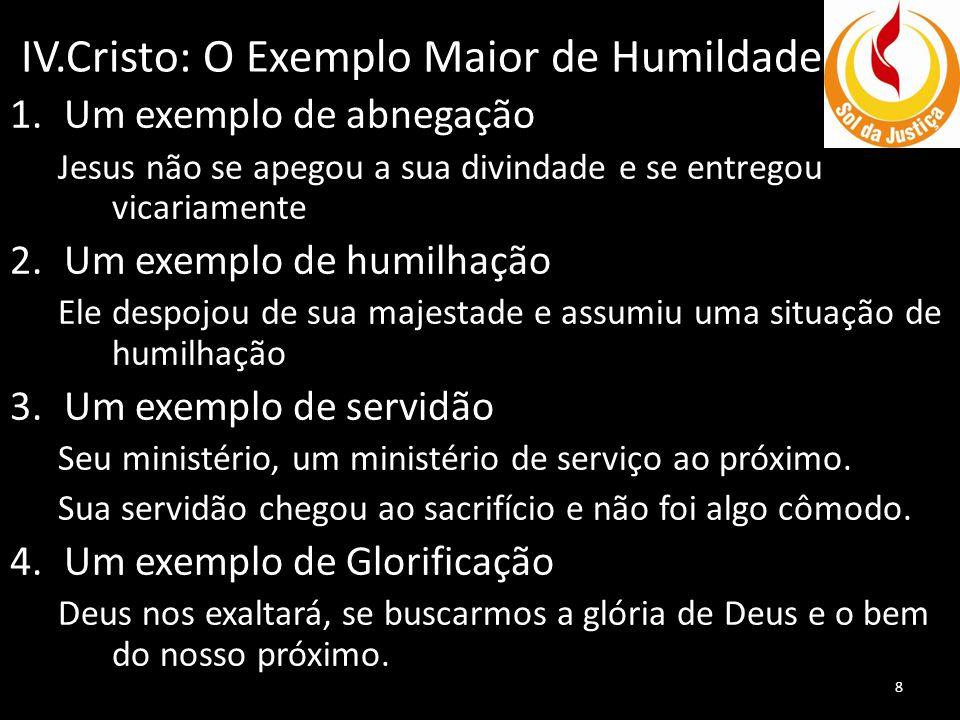 IV.Cristo: O Exemplo Maior de Humildade