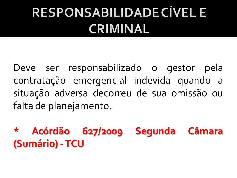 RESPONSABILIDADE CÍVEL E CRIMINAL