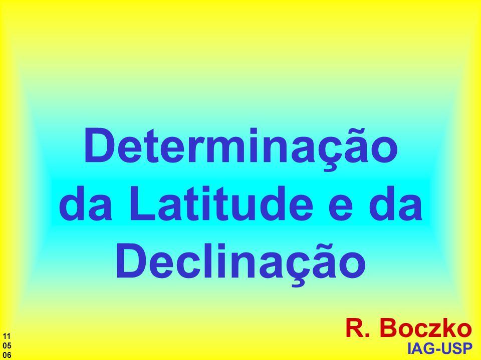 Determinação da Latitude e da Declinação