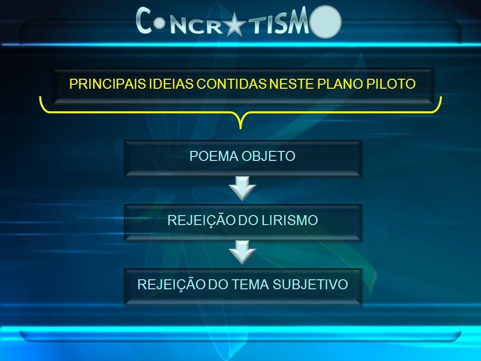 C NCR TISM PRINCIPAIS IDEIAS CONTIDAS NESTE PLANO PILOTO POEMA OBJETO