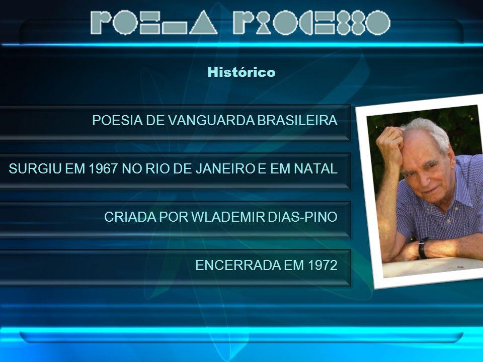 Histórico POESIA DE VANGUARDA BRASILEIRA. SURGIU EM 1967 NO RIO DE JANEIRO E EM NATAL. CRIADA POR WLADEMIR DIAS-PINO.