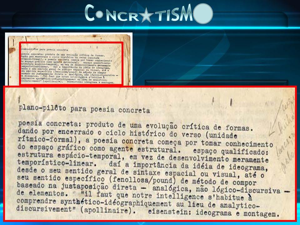 C NCR TISM PLANO PILOTO PARA A POESIA CONCRETA