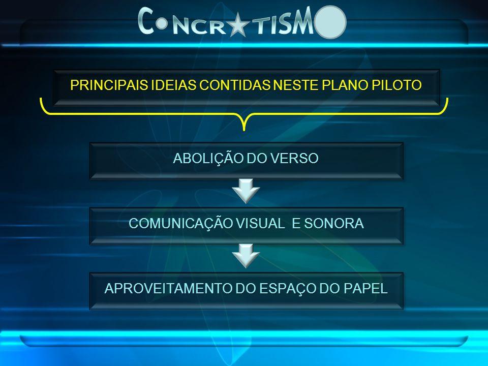 C NCR TISM PRINCIPAIS IDEIAS CONTIDAS NESTE PLANO PILOTO