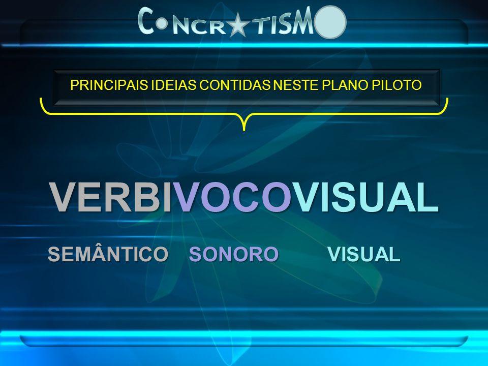 PRINCIPAIS IDEIAS CONTIDAS NESTE PLANO PILOTO