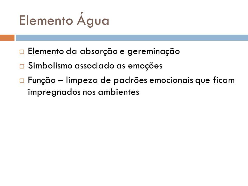 Elemento Água Elemento da absorção e gereminação