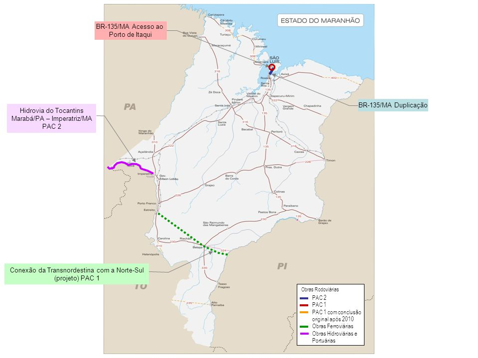 Hidrovia do Tocantins Marabá/PA – Imperatriz/MA PAC 2