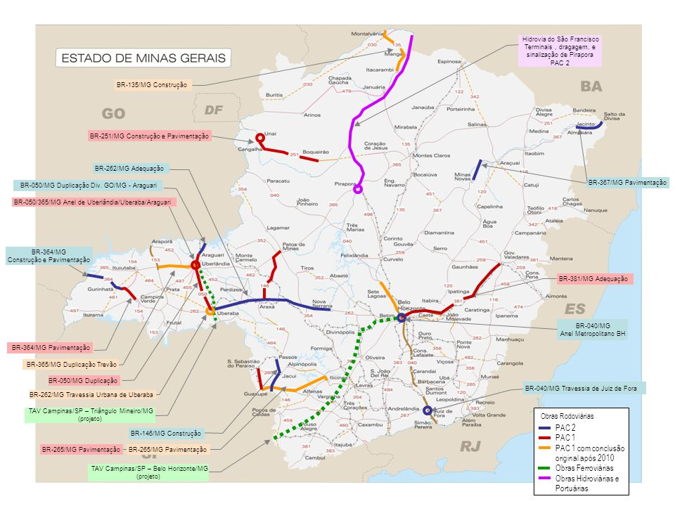 Hidrovia do São Francisco Terminais , dragagem, e sinalização de Pirapora PAC 2