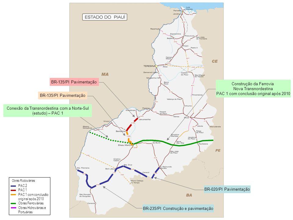Conexão da Transnordestina com a Norte-Sul (estudo) – PAC 1