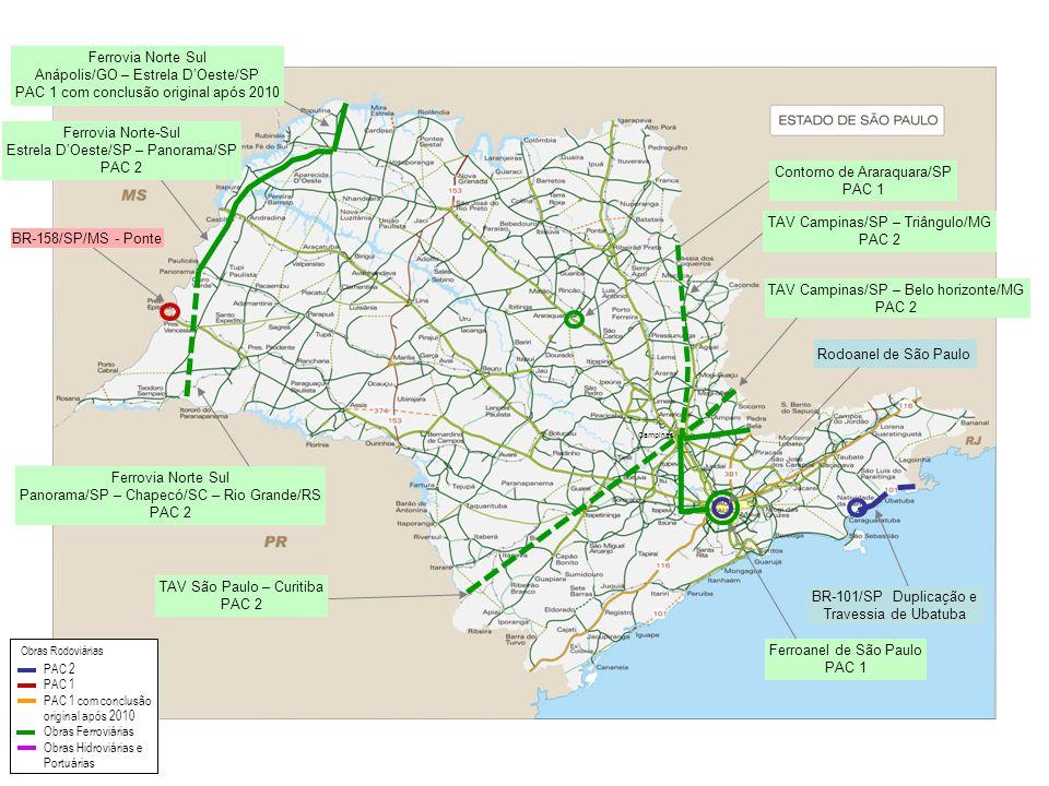 Ferrovia Norte-Sul Estrela D'Oeste/SP – Panorama/SP PAC 2