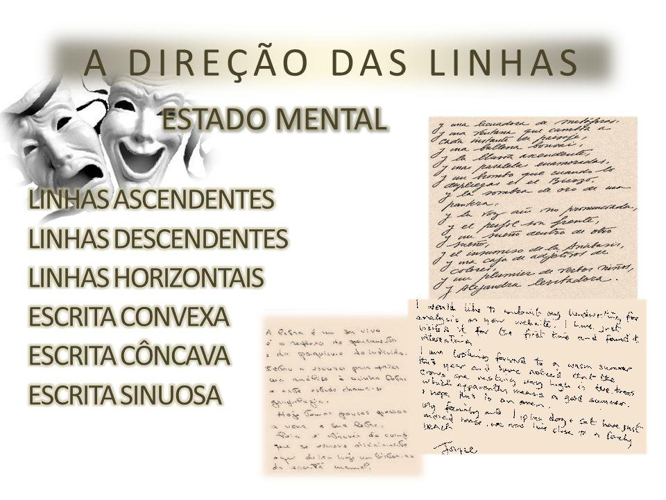 A DIREÇÃO DAS LINHAS ESTADO MENTAL LINHAS ASCENDENTES
