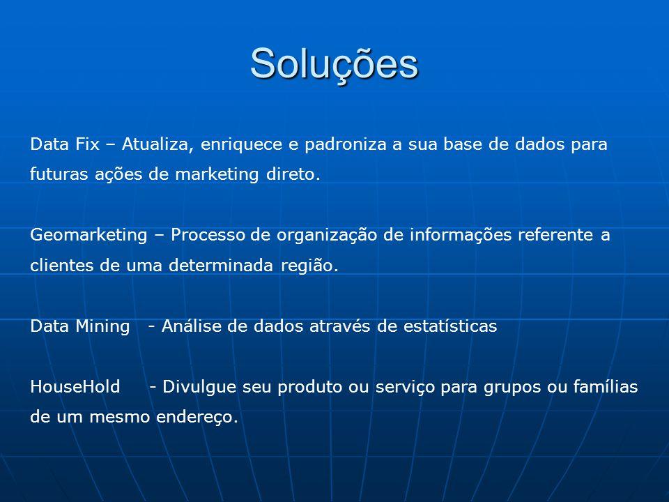 Soluções Data Fix – Atualiza, enriquece e padroniza a sua base de dados para. futuras ações de marketing direto.