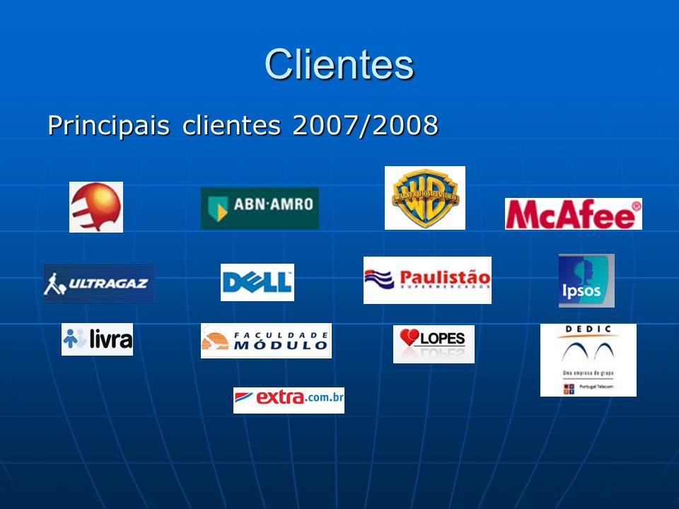 Clientes Principais clientes 2007/2008