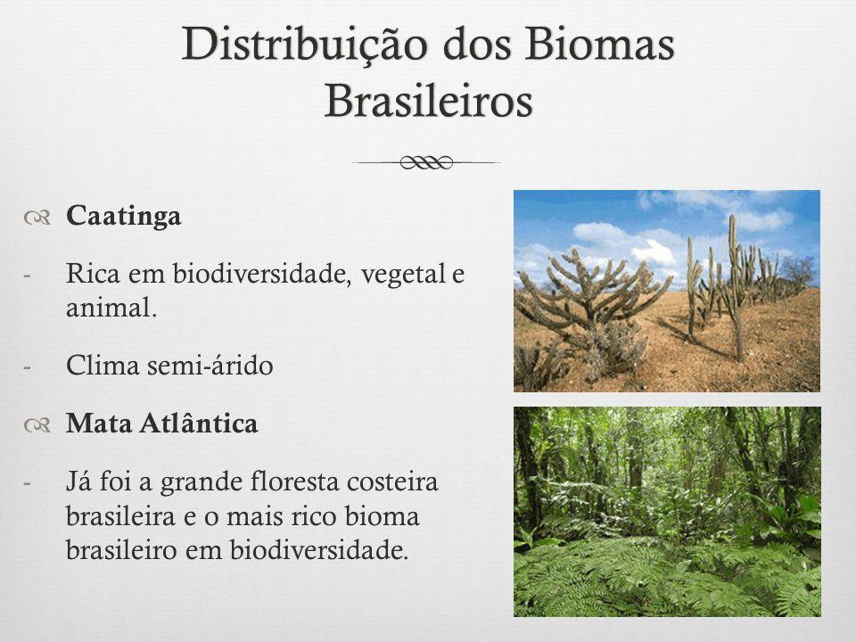 Distribuição dos Biomas Brasileiros