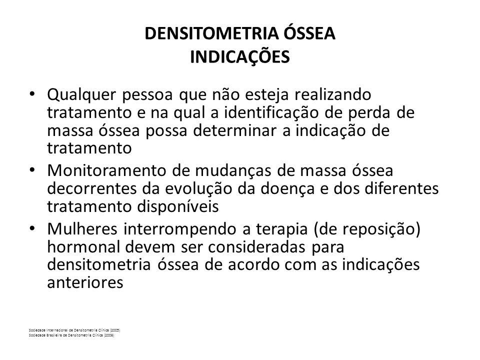 DENSITOMETRIA ÓSSEA INDICAÇÕES