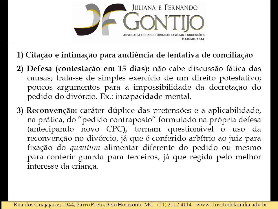 1) Citação e intimação para audiência de tentativa de conciliação