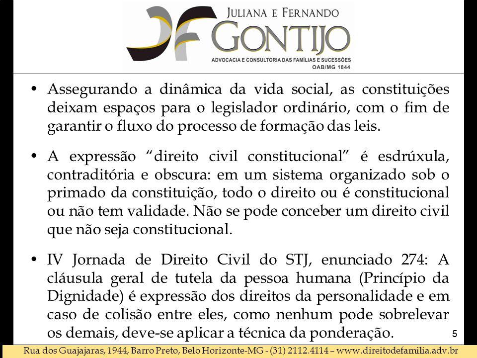 Assegurando a dinâmica da vida social, as constituições deixam espaços para o legislador ordinário, com o fim de garantir o fluxo do processo de formação das leis.