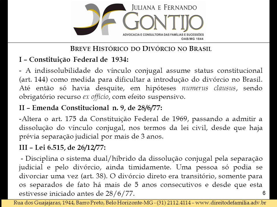 Breve Histórico do Divórcio no Brasil