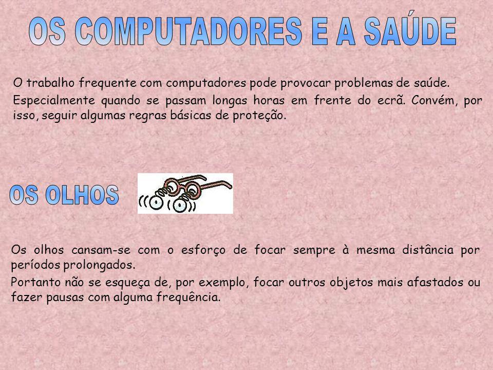 OS COMPUTADORES E A SAÚDE