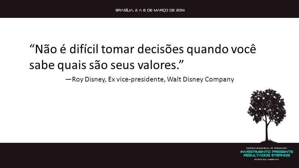 —Roy Disney, Ex vice-presidente, Walt Disney Company